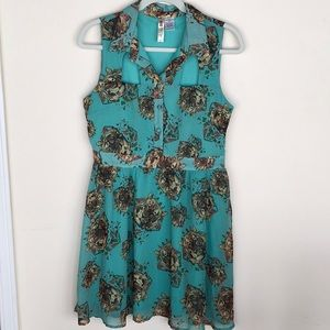 Tiger Dress with Cutout Detail